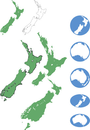 zealand: New Zealand & Australian maps in various forms