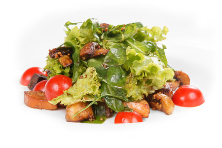 sorrel: salad with sorrel and eggplant Stock Photo