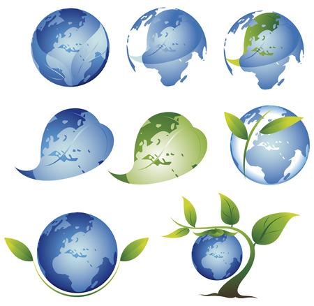 environment golbal green Vector