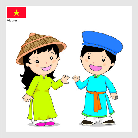 Cartoon Vietnam Illustration