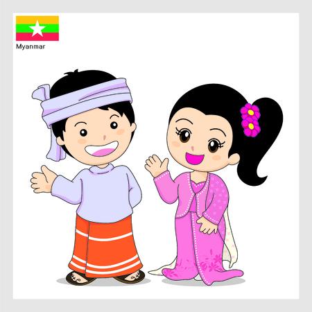 Cartoon Myanmar