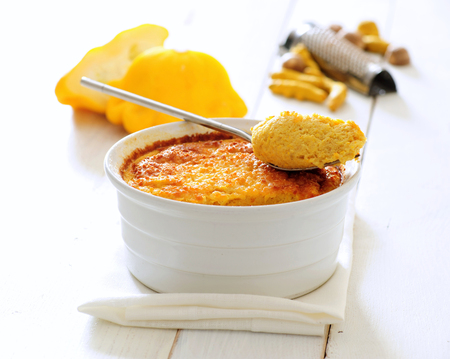 Cheese souffle with pumpkin Stock Photo