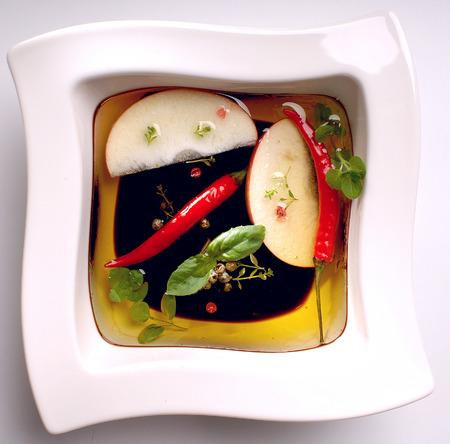 Marinade with soy sauce. Zdjęcie Seryjne