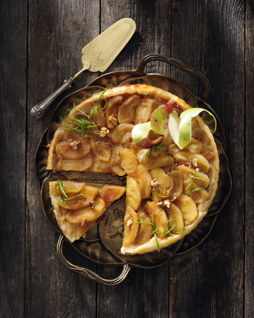Apple tarte Tatin.