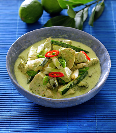 Filipino chicken and coconut milk dish ginataang