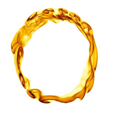 Une seule lettre du titre de la fumée incendie alphabet isolé sur blanc Banque d'images - 6280316