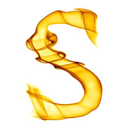 Une seule lettre du titre de la fumée incendie alphabet isolé sur blanc Banque d'images - 6280124