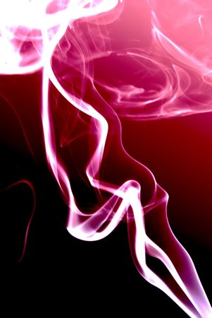 incense: pink incense smoke abstract on black, vertical