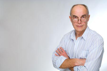 mature businessman in glasses