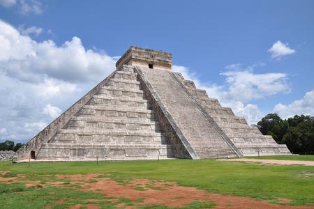 Mayan pyramid in Chichen Itza photo