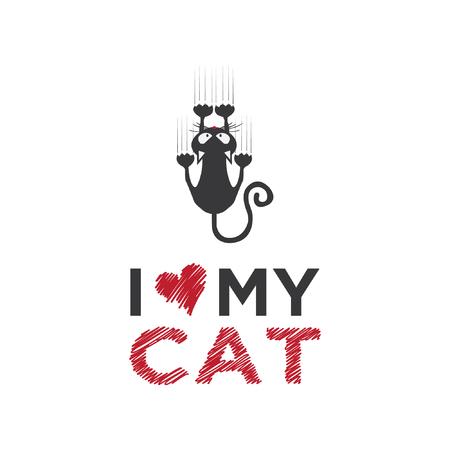 Cat illustration isolated on white background Illustration