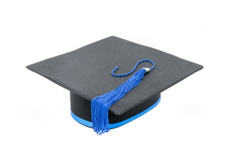 valedictorian: Graduation hat isolated on white background