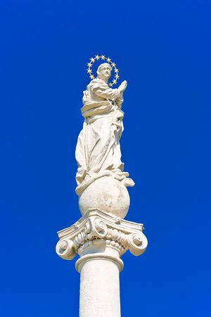 god s hand: Statue of the holy virgin Mary Stock Photo