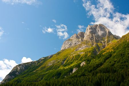Picturesque Carinthian mountain on border to Italy (Austria) Stock Photo - 5662497