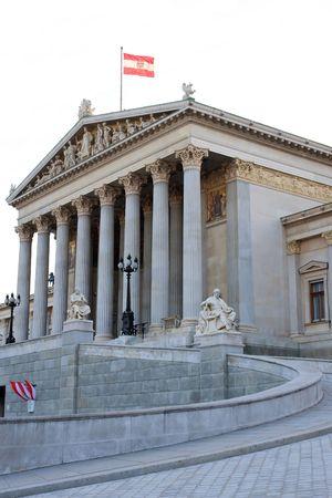 Side View of Austrian Parliament, Vienna photo