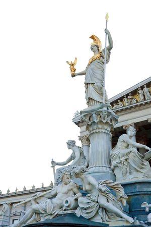 athene: Pallas Athene statue in forn of Austrian Parliament, Vienna