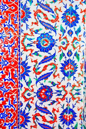 luxuriance: Iznik tile colorful ornamental details