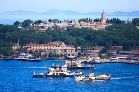 Topkapi Palace before Marmara sea, Istanbul, Turkey photo