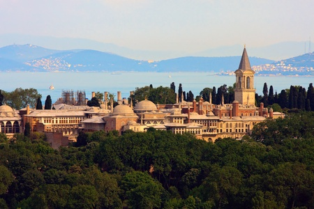 Topkapi Palace before Marmara sea, Istanbul, Turkey Stock Photo - 9455702