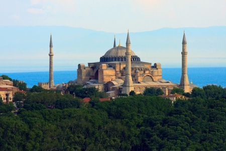 marmara: Hagia Sophia  before Marmara sea, Istanbul, Turkey