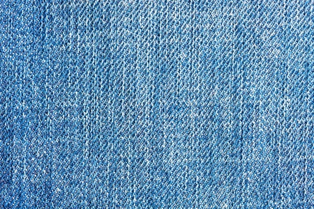 Textured blue jeans denim linen fabric background  Stock Photo