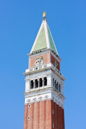 saint marco: Campanile Top, San Marco, Venice, Italy Stock Photo