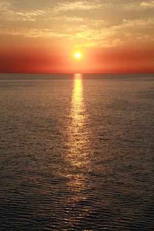 Sunset on the ocean Stock Photo - 9455443