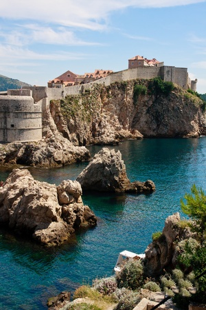 Dubrovnik scenic view on city walls photo