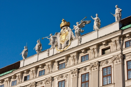 double headed: Facade of imperial palace in Vienna Stock Photo