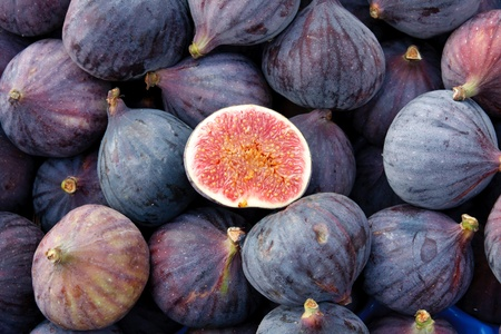 Tasty organic figs at local market photo
