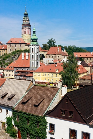 Cesky Krumlov UNESCO World Heritage Site View Stock Photo - 9455874