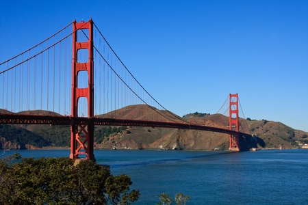 Golden Gate Bridge, View towards Sausalito, California  photo