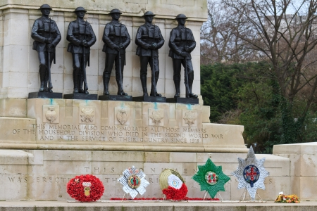 tommy: Guards War Memorial, Horse Guards Parade, London  UK Stock Photo
