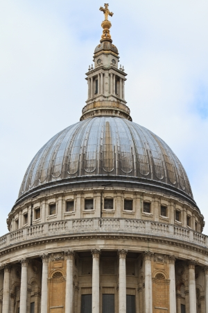 saint pauls cathedral: Dome of St  Pauls Cathedral, London, UK Stock Photo