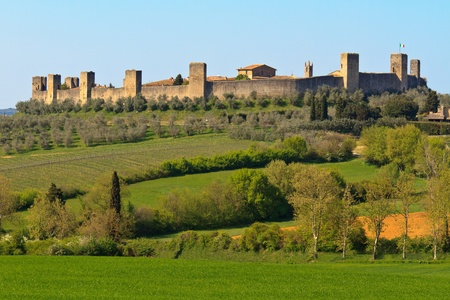City of Monteriggioni near Siena, Tuscany, Italy photo