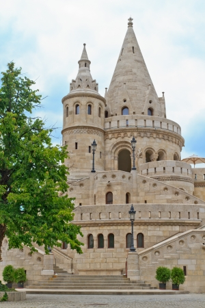 fisherman bastion: Fisherman Bastion, Budapest, Hungary Stock Photo