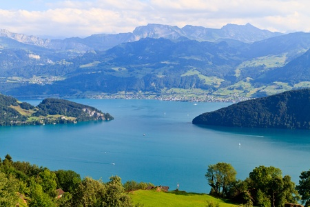Swiss Alpine Landscape (Vierwaldst�ttersee) photo