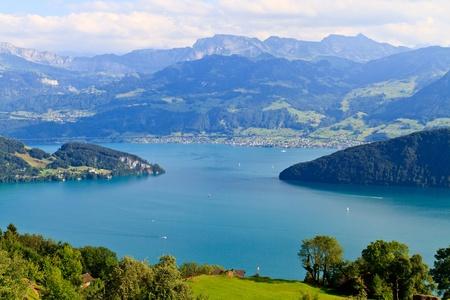 Swiss Alpine Landscape (Vierwaldstättersee) photo
