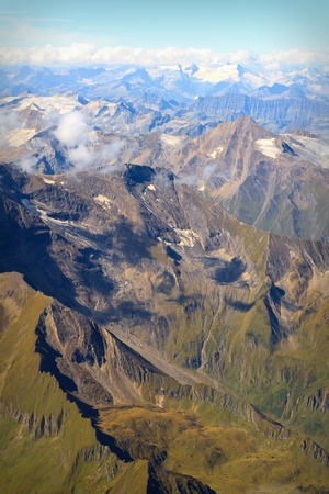 Aerial view of Austrian Alps in Summer (near Zell am See) Stock Photo