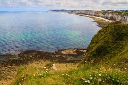 Cliffs near Etretat and Fecamp, Normandy, France Stock Photo - 11085946