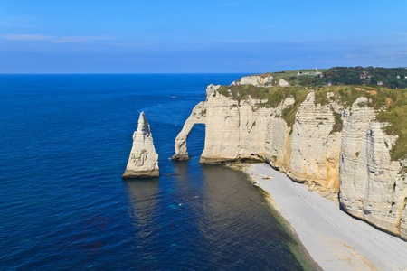 steep cliff: Cliffs of Etretat, Normandy, France