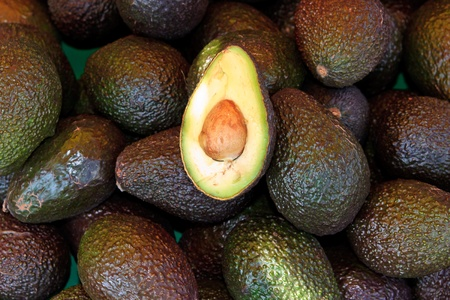Fresh avocados at local market photo