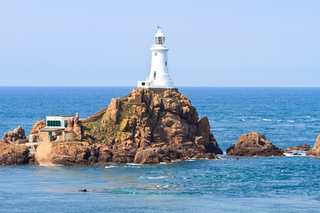 Corbiere Lighthouse, Jersey, The Channel Islands Stock Photo
