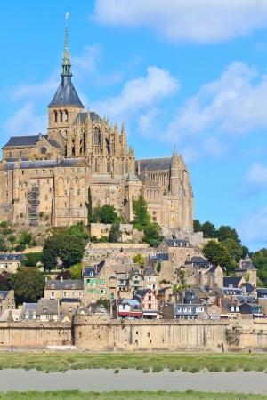 mont saint michel: Mont Saint Michel Abbey, Normandy   Brittany, France