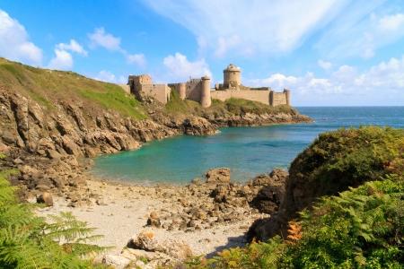 Fort La Latte, Chateau de la Roche Goyon, Bretania, Francja Zdjęcie Seryjne