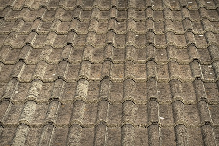 Traditional grey roof tiles photo
