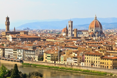 View of Florence  Firenze with duomo, Tuscany, Italy photo