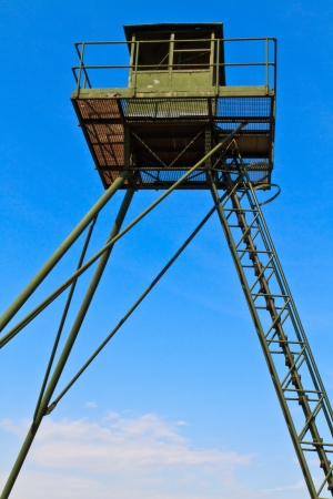 iron curtain: Remains of an Iron Curtain Watch Tower on the border between Austria and the Czech Republic