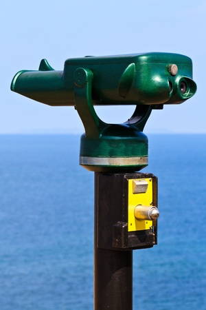 Tourist Attraction Binoculars (pointing towards the Ocean) photo