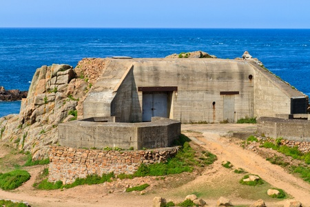 world war two: German Atlantic Wall Bunker (Second World War), Jersey, Channel Islands